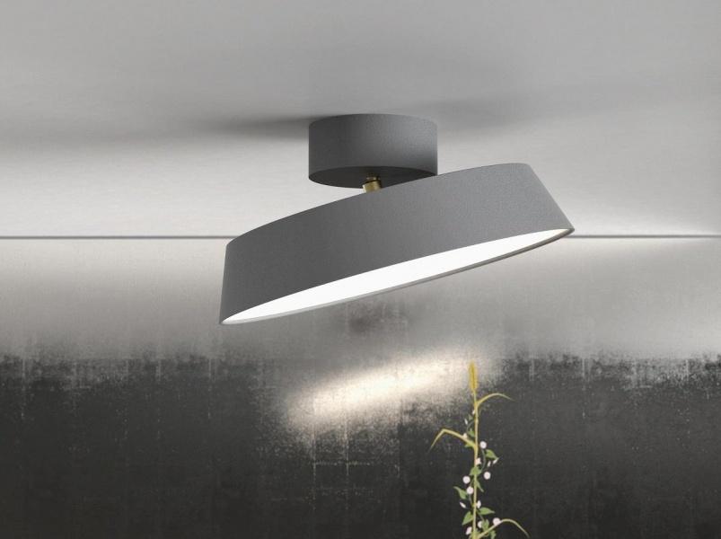 Berømte ALBA Taklampe LED, Tiltbar 15grader, Grå AX-67